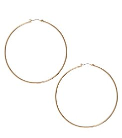 Nine West&Reg; Goldtone Extra Large Clicktop Hoop Earrings