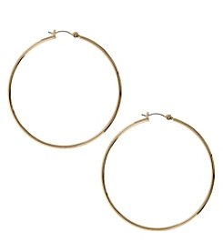 Nine West® Goldtone Large Hoop Earrings