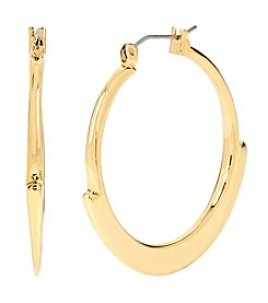 Robert Lee Morris Soho™ Goldtone Geometric Edge Hoop Earrings