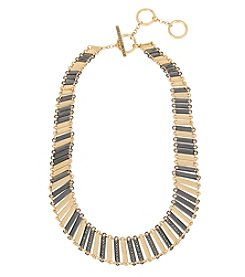 Kenneth Cole® Pave Two-Tone Geometric Stick Collar Necklace