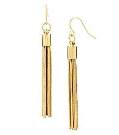 Kenneth Cole® Multi Chain Tassel Linear Goldtone Earrings