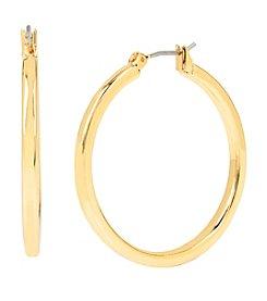 Kenneth Cole® Medium Goldtone Hoop Earrings