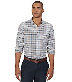 Nautica® Men's Long Sleeve Plaid Pocket Button Down Shirt