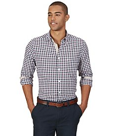 Nautica® Men's Long Sleeve Checked Pocket Button Down Shirt
