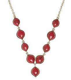 Nine West Vintage America Collection® Goldtone And Coral Y-Necklace