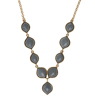 Nine West Vintage America Collection® Goldtone And Grey Y Necklace