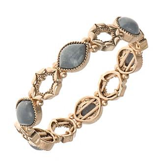 Nine West Vintage America Collection® Goldtone And Grey Stretch Bracelet