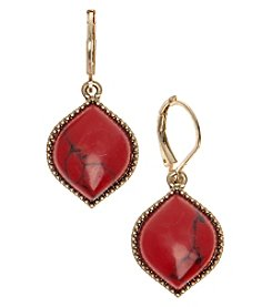 Nine West Vintage America Collection® Goldtone And Coral Drop Earrings