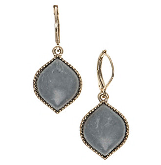 Nine West Vintage America Collection® Goldtone And Grey Drop Earrings plus size,  plus size fashion plus size appare