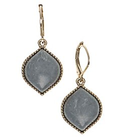 Nine West Vintage America Collection® Goldtone And Grey Drop Earrings
