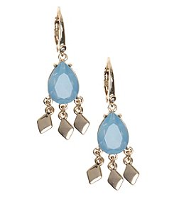 Nine West Vintage America Collection® Goldtone And Blue Shaky Drop Earrings