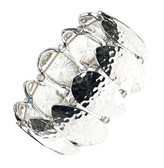 Nine West Vintage America Collection® Silvertone Large Stretch Bracelet