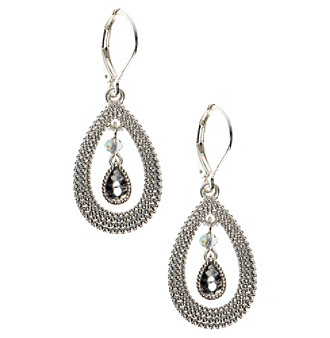 Nine West Vintage America Collection® Silvertone Orbital Earrings plus size,  plus size fashion plus size appare