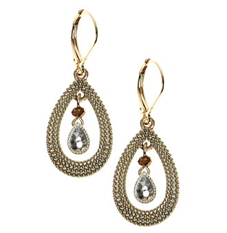 Nine West Vintage America Collection® Tri Tone Orbital Drop Earrings plus size,  plus size fashion plus size appare