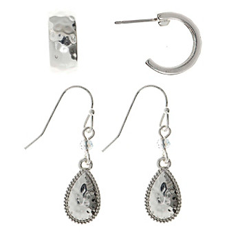Nine West Vintage America Collection® Silvertone Duo Earrings Set plus size,  plus size fashion plus size appare