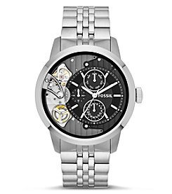 Fossil® Men's Townsman Watch In Silvertone With Metal Bracelet