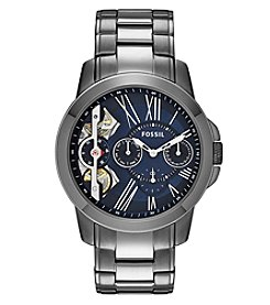 Fossil® Men's Grant Watch In Smoke Tone  Bracelet Watch