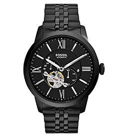 Fossil® Men's Townsman Watch In Black Tone Bracelet Watch