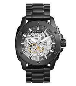 Fossil® Men's Modern Machine Watch In Black Tone With Bracelet