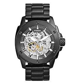 Fossil® Men's Modern Machine Watch In Black Tone With Bracelet