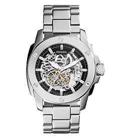 Fossil® Men's Modern Machine Watch In Silvertone With Metal Bracelet