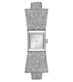 kate spade new york® Women's Silver Leather Kenmare Watch