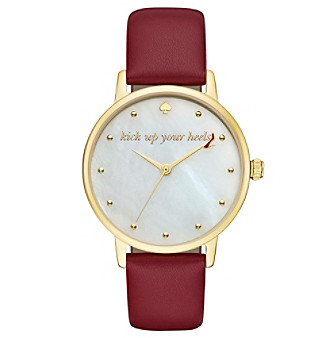 kate spade new york® Women's Merlot Leather And Goldtone