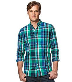 Chaps® Men's Long Sleeve Large Plaid Button Down Shirt