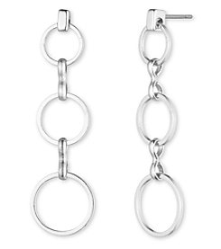 Anne Klein® Silvertone Post Drop Earrings