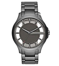 A|X Armani Exchange Men's Gunmetal Brushed Stainless Steel Watch