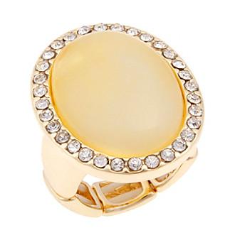 Erica Lyons® Goldtone Oval Fashion Stretch Ring