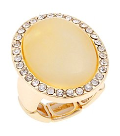 Erica Lyons® Goldtone Oval Fashion Stretch Ring