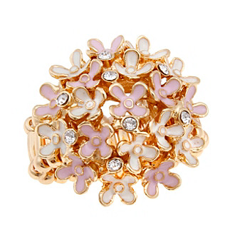Erica Lyons® Goldtone Tiny Flowers Dome Fashion Stretch Ring