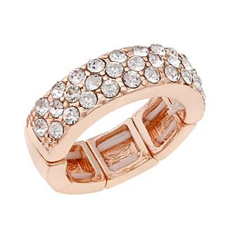 Erica Lyons® Rose Goldtone Band Fashion Stretch Ring
