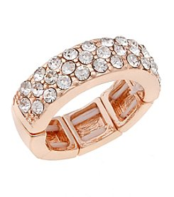 Erica Lyons® Rose Goldtone Band Fashion Stretch Ring