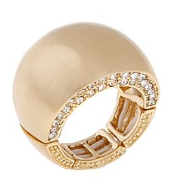 Erica Lyons® Goldtone Wide Band Fashion Stretch Ring