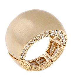 Erica Lyons® Goldtone Wide Band Fashion Stretch Ring