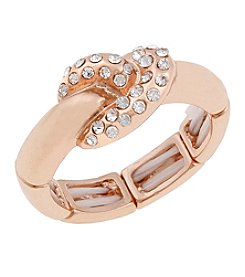 Erica Lyons® Rose Goldtone Thin Knot Fashion Stretch Ring
