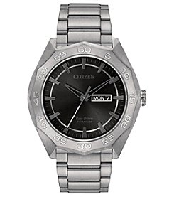Citizen® Men's Eco-Drive Super Titanium Silvertone Watch
