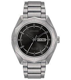Citizen® Men's Eco-Drive Super Titanium Silvertone Watch
