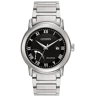 Citizen® Men's Eco-Drive Power Reserve Silvertone Watch