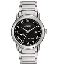 Citizen® Men's Eco-Drive Power Reserve Silvertone Watch