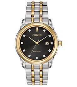 Citizen Men's Eco-Drive Two Tone Watch with Diamond Accents