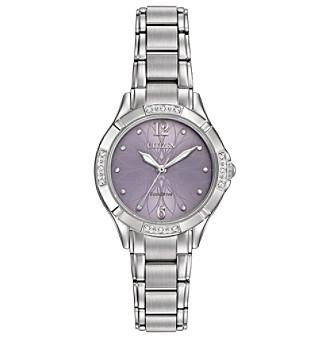 Citizen® Women's Eco-Drive Silvertone Watch with Diamond