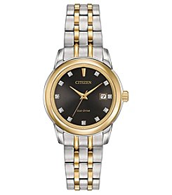Citizen® Women's Eco-Drive Two Tone Watch with Diamond Accents