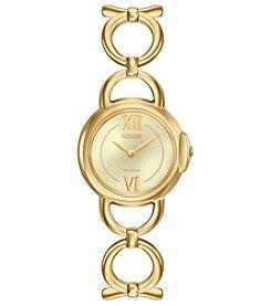 Citizen® Women's Eco-Drive Jolie Goldtone Watch