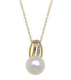 Cultured Freshwater Pearl Pendant In 10K Yellow Gold