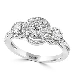 Effy® Bouquet Collection 0.79 Ct. T.W. Diamond Ring In 14K White Gold