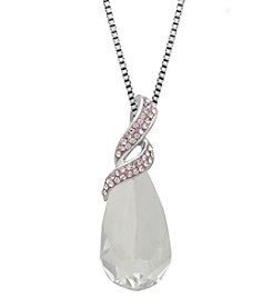 Impressions® Crystal Pendant In Sterling Silver