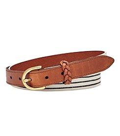 Fossil® Printed PVC Belt